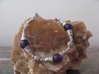 Edelsteen Jade Armband violet edelsteen EA3  22 cm x 1 cm