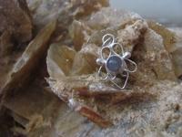 Nr. 33 Opaliet edelsteen | met zilveren hanger  19 mm x 11 mm