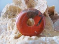 Jaspis Rood Donut edelsteen E0122  Per stuk