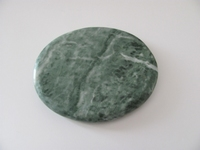 Jade edelsteen middel | plat | per stuk Jade48