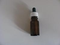 60mm pipet Blauw met  bruin  flesje 10 ml  Per stuk