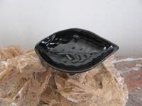Keramiek zwart scrub schaaltje model Blaadje  Per stuk