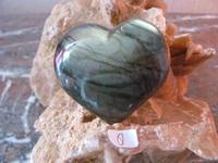 Labradoriet Hart (Bol) edelsteen E0108 nr.8  6 x 5.5 cm