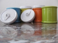 Aardewerk potjes diverse kleuren  20 stuks
