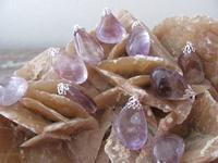 Nr. 1 Amethyst Trommel edelsteen  3 cm
