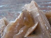 Nr. 13 Fluoriet edelsteen | met zilveren kapje  29 mm x 10 mm