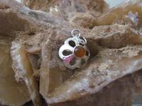 Nr. 39 Agaat edelsteen   met zilveren hanger