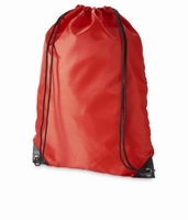 Schoudertas tas met koord ook te gebruiken als rugzak Rood  34 x 45,5 cm