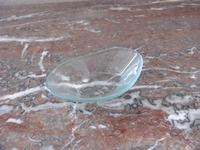 A. Glazen ovale  schaaltjes  15 stuks