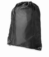 Herbruikbare tas ook te gebruiken als rugzak met koord Zwart  34 x 45,5 cm
