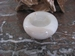 Waxine houder (Marmer/Sardonyx) E041 2 x 7 cm