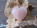 Rozenkwarts2  Hart (Plat) edelsteen E0111 4 x 4 cm