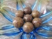Marmer/Sardonyx half edelsteen gemeleerd bruin E0196 35 mm