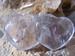 Amethyst Dubbelhart edelsteen licht van kleur  E0119 5,5 cm x 3 cm